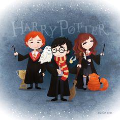 "♡ Anouk on Instagram: ""Mijn favoriete trio 👑⚡️📚 #fanart #harrypotter #hp #hogwarts #ronweasley #hermionegranger #drawing #illustration #art #digitalart…"" Blaise Harry Potter, Cumpleaños Harry Potter, Harry Potter Cartoon, Harry Potter Tumblr, Harry Potter Characters, Harry Potter Painting, Harry Potter Artwork, Harry Potter Drawings, Harry Potter Wallpaper"