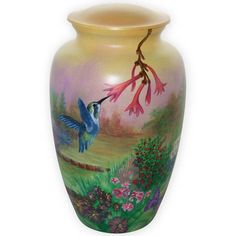 Hand painted burial urns allow you to customize existing vessels into unique hand painted urns and pet urns. Our Custom Urn Curator is happy to assit you with our Hand Painted Urn options.