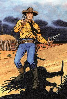 Civitelli Particolare della Cover Texone n. 27- La cavalcata del morto