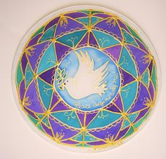 mandala Peace Begins With Menew age by HeavenOnEarthSilks on Etsy, $32.00