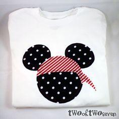 DIY Mickey shirts - great for Disney Cruise pirate night
