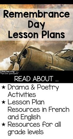 Remembrance Day Lessons For All Grades - 2 Peas and a Dog Remembrance Day Activities, Remembrance Day Art, Poetry Activities, Language Activities, Break Up Poems, Middle School History, High School, Ontario Curriculum, Canadian History