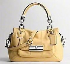 Coach Kristin Leather Satchel - Butter-Yellow