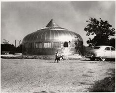 Steel Clad Home. House designed by Buckminster Fuller?