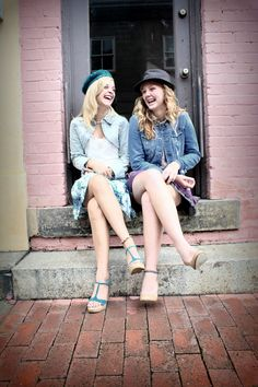 Cherished Moments Photography  girls, senior pose, downtown, friends
