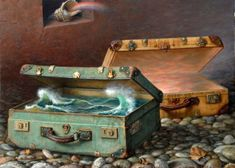 """Alex Alemany is a Spanish artist who is known for his surrealistic paintings which are often categorized as """"magical realism"""". Spanish Painters, Spanish Artists, American Realism, Creation Photo, Magic Realism, Pics Art, Virtual Museum, Realistic Paintings, Magical Paintings"""