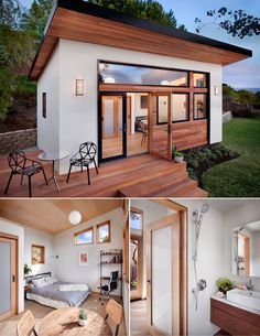 Tiny house zoning regulations: What you need to know - Curbedclockmenumore-arrow. Tiny house zoning regulations: What you need to know - Curbedclockmenumore-arrow : Find out which states are the most tiny house-friendly Modern Tiny House, Tiny House Cabin, Small House Design, Tiny House Living, Tiny House Plans, Tiny Home Floor Plans, Tiny Guest House, Tiny Beach House, Best Modern House Design