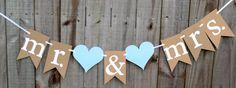 Mr & Mrs Banner, Engagement Party Banner, Bridal Shower Banner, She Said Yes Banner