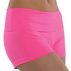 A great pair of dance shorts for your little girl by Danshuz. These high waist shorts can be worn as a high waist look or rolled down as pictured. Great for her dance rehearsal or a recital. These shorts are also great for cheer routines or gymnastics. Ma