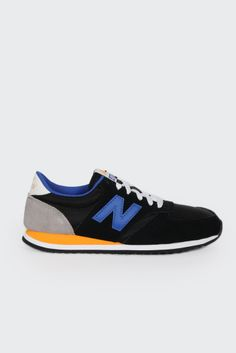 New Balance, 420 Classic Sneakers black/blue/yellow