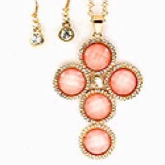 Pink Bubble Cross Set from Morties for $11.95 on Square Market