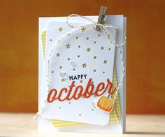 Happy October Card by Laura Bassen for Papertrey Ink (October 2014)