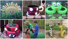 Nuevas propuestas de decoración para nuestro colegio reciclando neumáticos