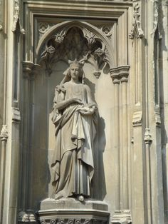 Bertha of Kent, Canterbury Cathedral. She was a Merovingian princess and the wife of Aethelberht l, King of Kent.