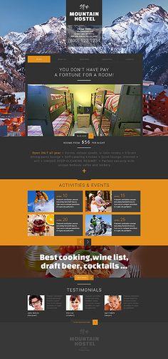 Template 49448 - Mountain Hostel  Responsive Website Template