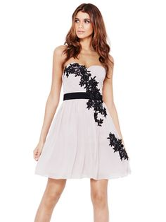 Little Mistress Floral Appliqué Dress