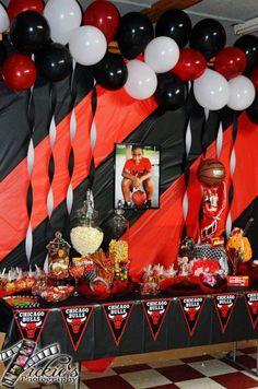 Chicago Bulls Redampblack Dessert Buffet Basketball Birthday Parties 13th