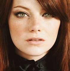 Emma Stone, actress, green eyes, redhead, ginger, red hair,