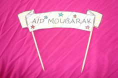 banner cake Eid Mubarak/guirlande de gateau AÏD moubarak