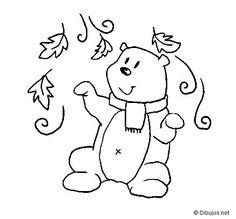 Resultado de imagen para dibujo oso abrigado