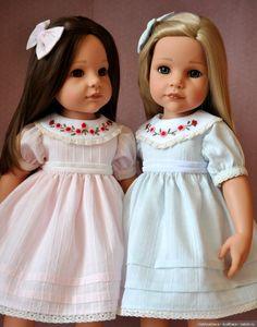 Roses pour Bailey / vêtements et chaussures de bricolage pour poupées / Beybiki. Photo de poupées. Vêtements de poupée American Girl Diy, American Girl Clothes, Baby Girl Dresses, Girl Outfits, Flower Girl Dresses, Gotz Dolls, Ag Doll Clothes, Diy Doll, Baby Sewing