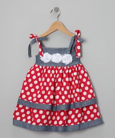 Red Polka Dot Babydoll Dress - Toddler & Girls - Made in the USA by Liv & Mia