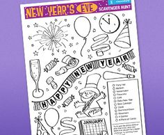 New Year's Eve Scavenger Hunt - Pinned by @PediaStaff – Please visit http://ht.ly/63sNt for all (hundreds of) our pediatric therapy pins