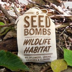 Wildlife Habitat Seed Bombs to grow beneficial wildflowers, grains, grasses, and clovers