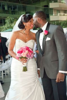 Jonelle and Patrick pictured at their romantic Wedding Ceremony at Pavilion Grille.  Photo by Joel P. Black