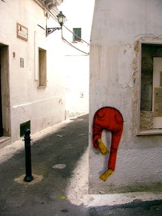 stuck in the wall | Os Gémeos, Grottaglie, Italy