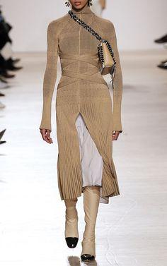 Fine Rib Long Sleeve Turtleneck Dress by Proenza | Moda Operandi