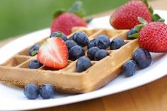 I love waffles.  Here is a healthy homemade version!!!