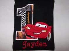 Car Birthday 1,2,3,4,5,6, Shirt or Onesie for Boys, Applique, Personalize, Embroidery on Etsy, $24.00