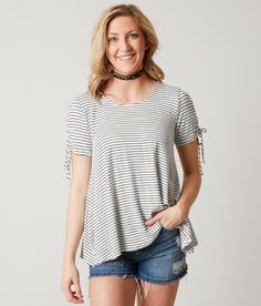 Daytrip Striped Top - Women's Shirts/Blouses in White Black | Buckle