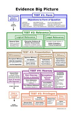 Evidence Big Picture Flowchart | Bar Exam Study Materials