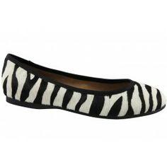 Ballina zebra print flats