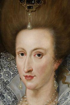 Head of portrait of Anne of Denmark (version of de Critz)