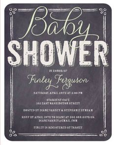 Baby shower invites: Chalkboard.