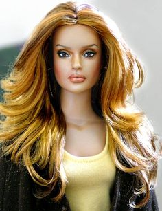 Hair and make up style - custom doll repaint and hairstyling using a 16-inch Tonner Sydney doll