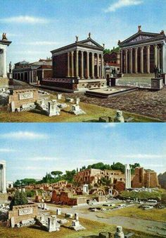 Imperial Forum Rome, Italy Architectural mastery is often a Costly Area! Roman Architecture, Historical Architecture, Ancient Architecture, Ancient Ruins, Ancient Rome, Ancient Greece, Rome History, Ancient History, Gizeh