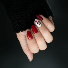 FIXATION.PL: Czerwony manicure - brokat i jarzębina   Jesienne zdobienie paznokci