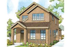 Contemporary House Plan - Montrose 30-823 by Associated Designs, Inc.