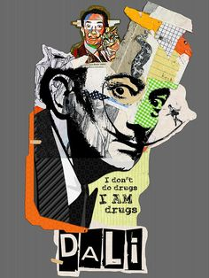 old prints, creative collage, artworks, paintings & prints, Posters Collage Art Mixed Media, Collage Artwork, Dada Collage, Salvador Dali Kunst, Salvador Dali Tattoo, Salvador Dali Artwork, Dali Paintings, Francis Picabia, Vaporwave Art