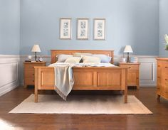 Looking for a traditionally crafted Shaker Bed? Our comfortable New England Shaker Raised Panel Bed is made from sustainably-harvested, solid hardwood. Handcrafted in Vermont and the perfect centerpiece for your Shaker Style bedroom. The headboard and footboard on this bed feature traditional styled raised panels. Skillfully built for you in real Cherry, Maple, Walnut, or Oak woods. Naturally finished to protect and enhance the beauty of the solid wood.