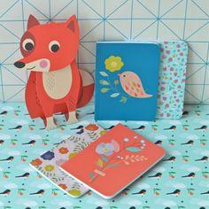 2 carnets Fleur Fraise mini labo - deco-graphic.com