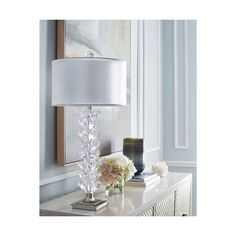 John-Richard Collection Stacked Tulip Buffet Lamp ($875) ❤ liked on Polyvore featuring home, lighting, table lamps, white, john richard lamps, tulip lamp, white table lamp, stacked lamp and white lights