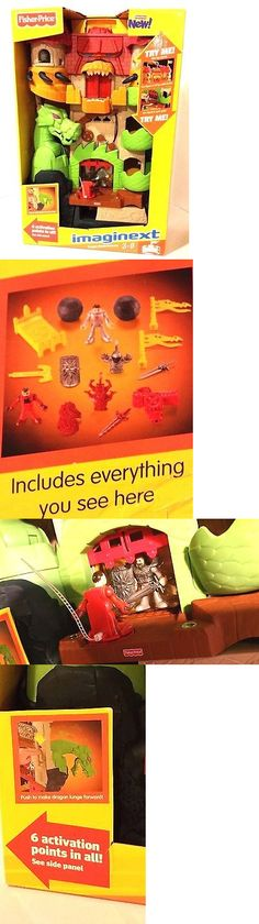 Imaginext 50305: Hard To Find New 2 Feet Fisher Price Imaginext Dragon World Fortress Light Sound -> BUY IT NOW ONLY: $129.99 on eBay!