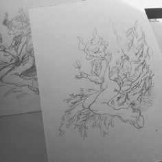 Ready for watercolor by sanoesnou Satyr, Watercolor Sketch, Doodles, Drawings, Instagram Posts, Sketches, Draw, Drawing, Doodle