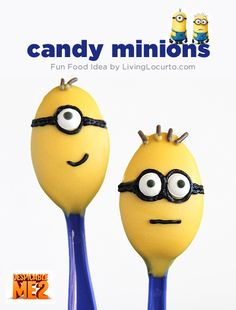How could you not love a party full of these cute minions? I've gathered some of the most creative minion party ideas for this Despicable Me Party post. Minion Candy, My Minion, Minion Treats, Minions Minions, Minions Quotes, Cute Candy, Best Candy, Cute Food, Good Food