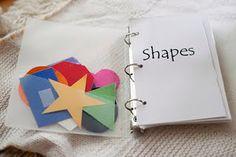 diy shapes book